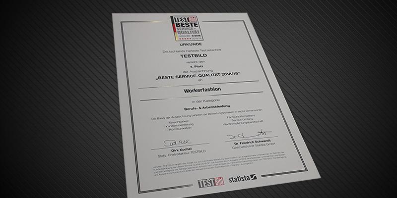 Auszeichnung für BEST SERVICE QUALITÄT