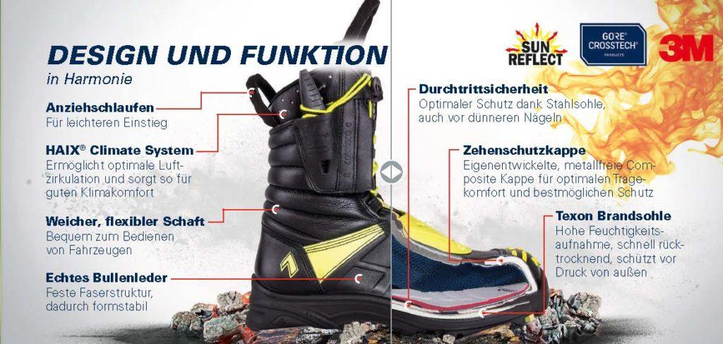 Funktionen Haix Stiefel