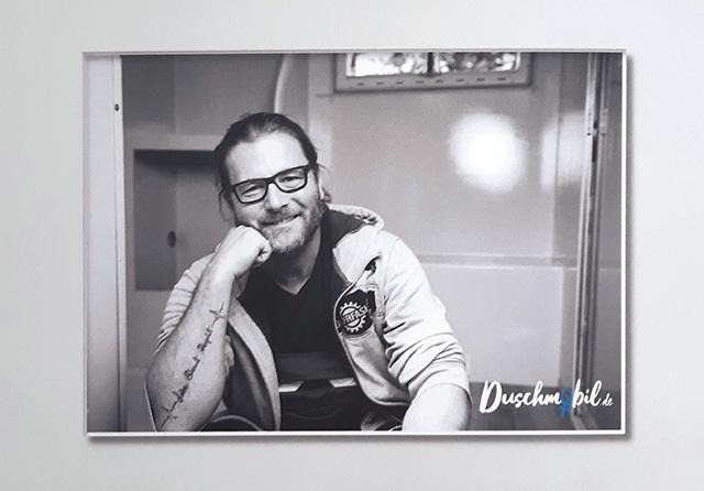 Matthias Müller im Duschmobil